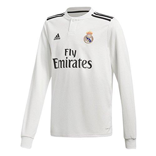adidas Camiseta Real Madrid Primera Equipación LS 2018-2019 Niño White-black