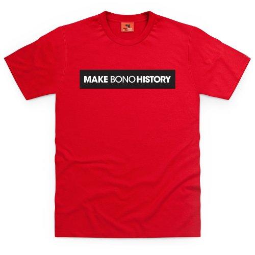 Make Bono History T-Shirt, Herren Rot