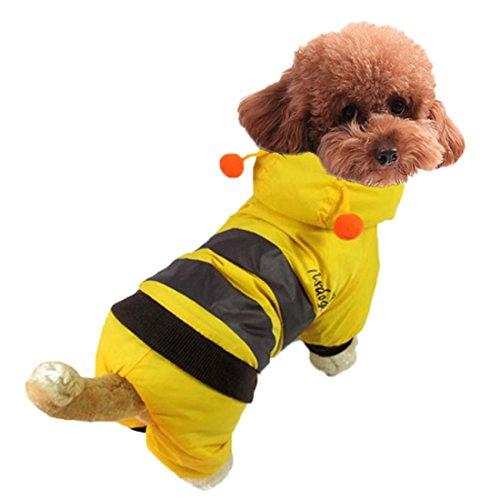 austier Hoodie Kleidung Halloween Hund Kostüm Plus Size Anzug Teddy Dressing up Party Bekleidung Bekleidung XS-XL (Gelbe Jacke Halloween-kostüm)