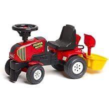 Falk 1013A Power Master - Tractor con volquete y accesorios, color rojo