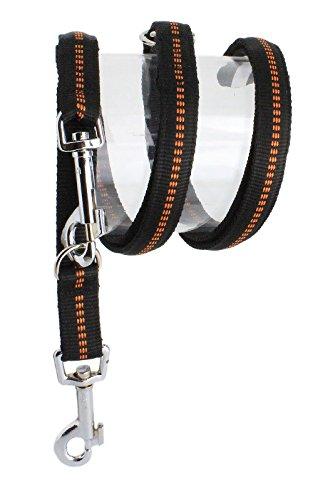 Nylon-Leine  300cm 4fach verstellbar gepolstert, L, schwarz