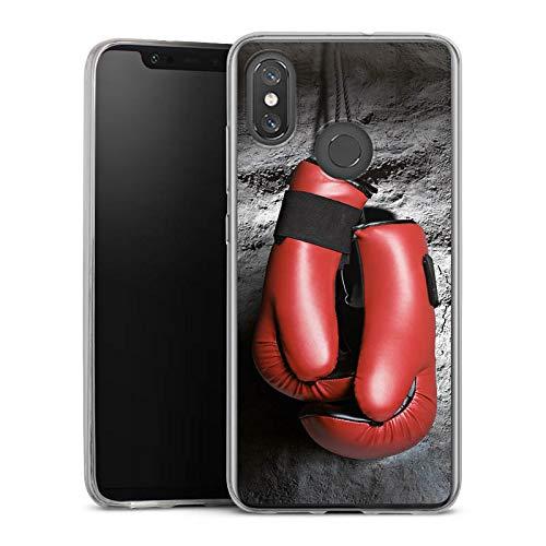 DeinDesign Slim Case kompatibel mit Xiaomi Mi 8 Pro Silikon Hülle Ultra Dünn Schutzhülle Boxen Boxhandschuhe Fight