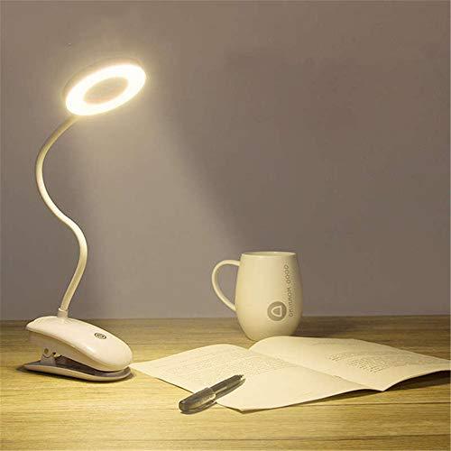 PDDXBB Led Schreibtischlampe EIN/Aus Schalter Wiederaufladbare USB Clip Schreibtischlampe 3 Modi Augenschutz Led Dimmer Tischlampe Lesebeleuchtung Warmweiß Andere (Aufladen) -
