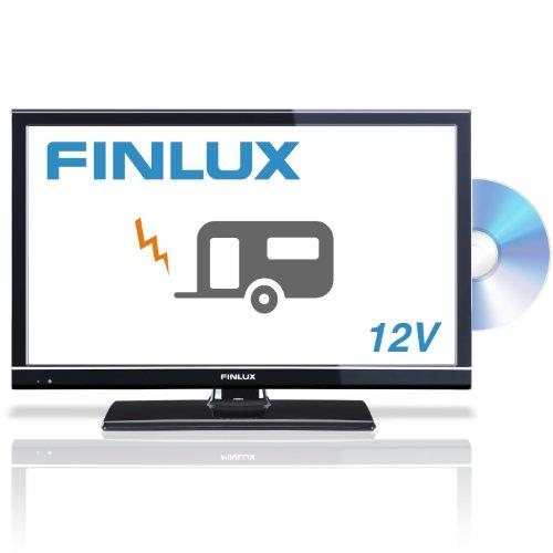 Finlux 22F6072-DM 22 Inch LED TV, Full-HD 1080p, Built-in Freeview & PVR, Caravan HGV Boat 12 VOLT DC 12V, Black