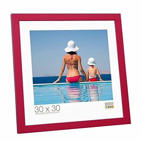 Deknudt Frames S40RK4 Cadre Photo Moderne Bois Rouge 40 x