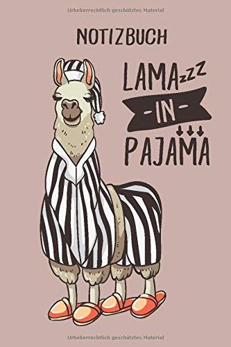 Notizbuch: Lama in Pyjama, 120 Seiten gepunktet, eckiger Buchrücken, genug Freiraum für all deine Notizen, Gedanken, Ideen im Lama & Alpaka Design
