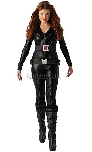 Generique - Schwarzes Witwen-Kostüm für Damen S (Marvel Black Widow Kostüm Großbritannien)