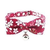 XDYFF Pet Gepolstertes Hundehalsband mit 9 Mustern Prinzessin Bogen Hundehalsband Reichtum Kitty Bell schöne Teddy Hundehalsband kleine und mittlere Welpen,3,XXS