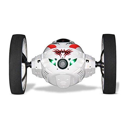 SainSmart Jr. Smart-RC Steuer Bounce Jump Stunt Car mit 2MP HD-Kamera-Handy Wifi 2.4G Echtzeit -Übertragung (Weiß)