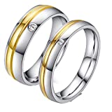 MXH titanium steel Romantic blue Couple ring Stainless steel jewelry CR-014,Silver,Female6#