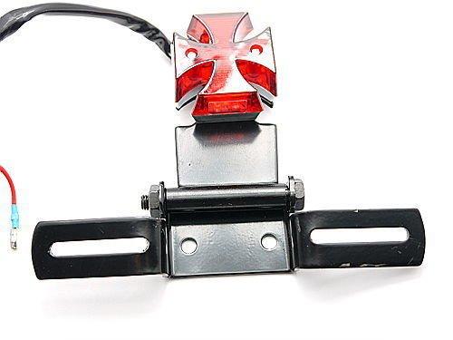 Moto-Freni-Quad-Croce-Fermare-Targa-Led-Rosso-Della-Coda-Posteriore-Nuova-Luce