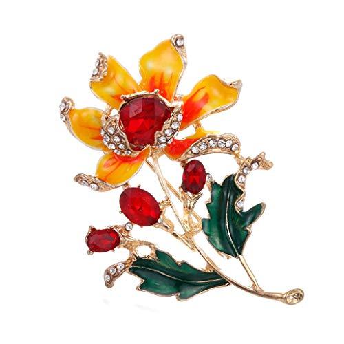 3b34d637702f0b JIUZHOU Fashion Exquisite Pin Painted three-Dimensional Diamond Brooch