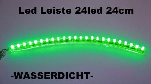 Preisvergleich Produktbild 1x LED Leiste Streifen grün Lichtleiste 24 cm-24 led wasserdicht Aquarium Mondlicht