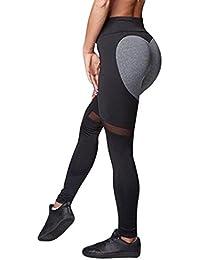Beautyjourney Les Femmes Skinny Leggings Haute Taille éLastique Yoga  Fitness Sport Pantalon en Forme De Coeur 078e58e123e