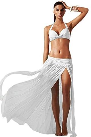New Ladies White Genie Style maxi Skirt Cover Up Swimwear