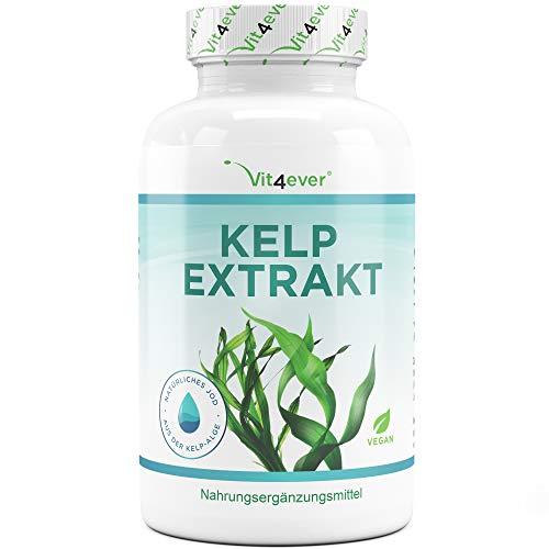 Vit4ever® Kelp Extrakt (Natürliches Jod) - 365 Tabletten mit je 150 mcg/µg Jod aus Kelp Algen - Laborgeprüfte Reinheit & Qualität - 12 Monatsvorrat - Hochdosiert & Vegan - Iodine -