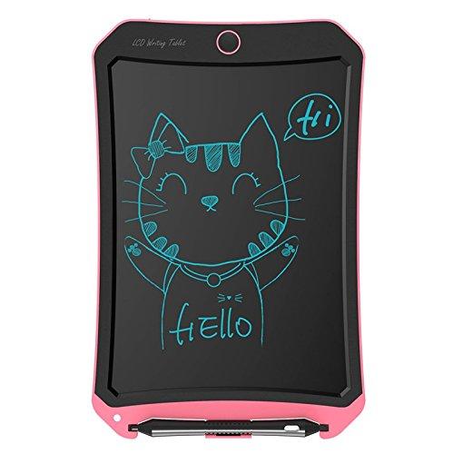 Jaylaka LCD Writing Tablet, Grafiktabletts schreibtafel LCD Grafik Tablett 8.5 inch papierlos Umweltfreundlich für Schreiben Rekord und Malen (Schwarz 8.5 inch) (Pink)