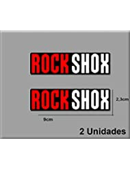 Ecoshirt O4-EC85-YQ74 Pegatinas Rock Shox Reba R94 Vinilo Adesivi Decal Aufkleber Клей MTB Stickers Bike Naranja