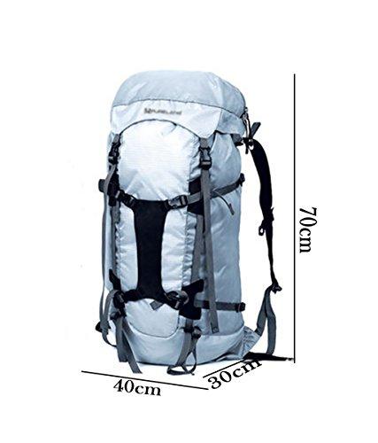 zaino trekking Maschio / Femmina 35L grande capacità all'aperto alpinismo sacchetto impermeabile Borsa a tracolla Leisure Travel Zaini da escursionismo ( Colore : B , dimensioni : 35L-70*40*30cm ) B
