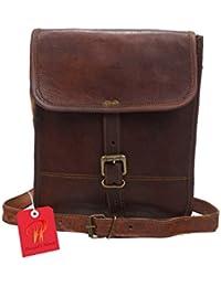 Pranjals House Real Vintage Genuine Ipad Leather Side Sling Shoulder Messenger Bag For Unisex Size (L) 10 (H)...