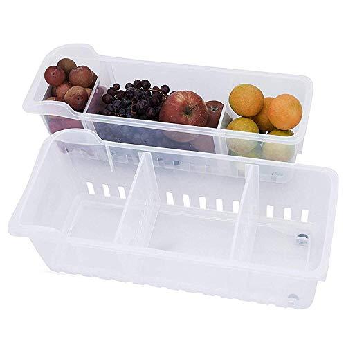 Kurelle 2 Pack Refrigerador contenedor Congelador despensa refrescos c
