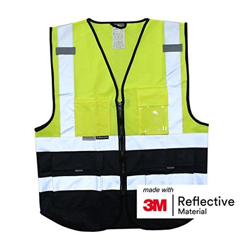 Salzmann 3M Arbeitsweste, mit 3M Reflektierende Material, mit Multi-Taschen und Reißverschluss