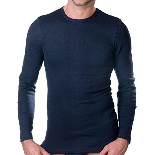 HERMKO 3640 2er Pack Herren langarm Shirt (Weitere Farben) Marine