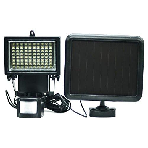 Galix 8017 Spot Solaire Très Eclairant avec Détecteur de Présence Plastique, Noir