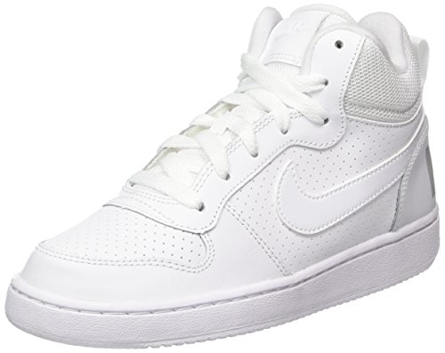 Nike Jungen Court Borough Mid (Gs) Basketballschuhe, Elfenbein (White/white/white), 37.5 EU