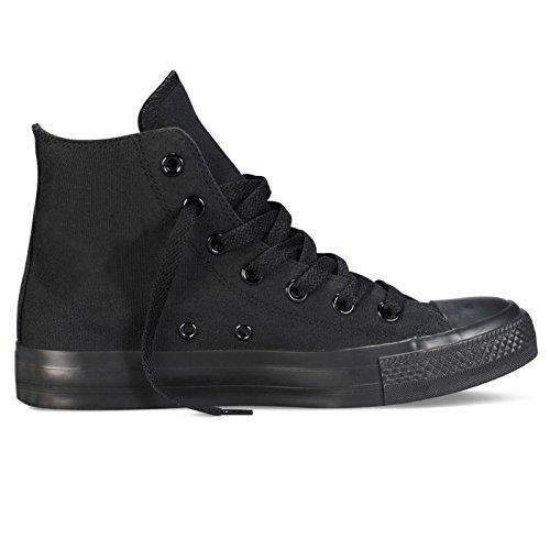 Bellacomoda scarpe ginnastica uomo unisex tela sneaker casual nero 119-146a b341 b339 (calzano strette) (44)