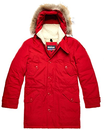 Blauer Daunen Trench Jacke L Rot Roter Trench