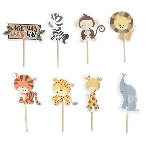 ere Elefant Löwe Muster Kuchen Dessert eingelegten Karte fuer Geburtstag, Kindertag, Halloween, Größe: Ca. 5 - 7cm (Halloween-torte)