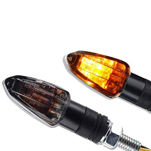 2 x Motorrad Halogen Miniblinker Mini Blinker Lizzard 1 Paar schwarz getönt kurz Quad ATV Roller