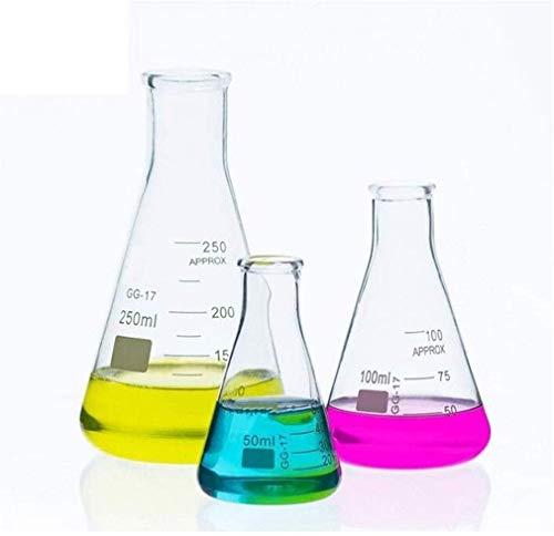 CHQYY Labor Lehr-Equipment Isolierung Mixer Glas Chemie Lehrmittel Erlenmeyerkolben Labortechnik Geeignet für Heim und Schule Science Laborzubehör
