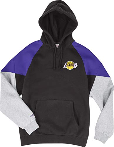 Mitchell & Ness Los Angeles Lakers Black Purple Trading Block Hoody Hoodie Sweater Herren Mens Block Hoody