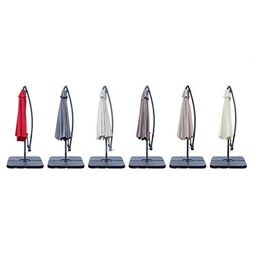 Alices-Garden-Parasol-dport-rond-300cm-Hardelot-Ecrucrme-Manivelle-anti-retour-Toile-dperlante-Facile–utiliser