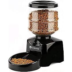 isYoung 5.5L Distributeur Automatique de croquettes avec Grand Écran Distributeur de Nourriture et Gamelle pour Chien, Chat et Animaux Domestiques