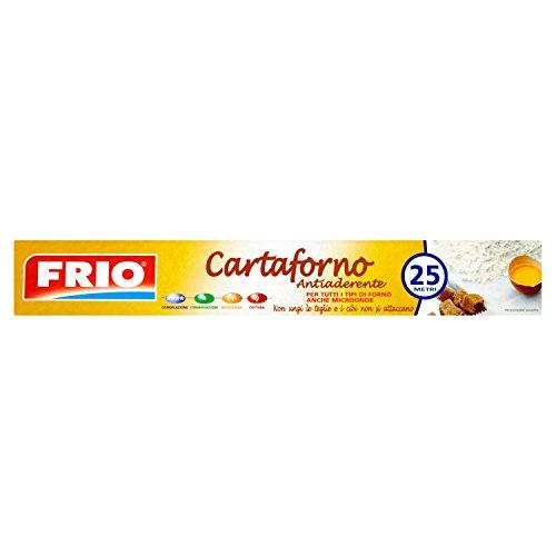 Frio Cartaforno Antiaderente per Tutti Tipi di Forno, Anche Microonde - 25 Metri