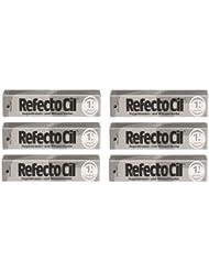 6er Set: Refectocil Augenbrauen & Wimpernfarbe 1.1 graphit 15ml