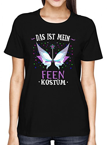 Kostüm Fee Männer Schwarze - Kostüm Fee Premium T-Shirt | Verkleidung | Karneval | Fasching | Frauen | Shirt, Farbe:Schwarz (Deep Black L191);Größe:S