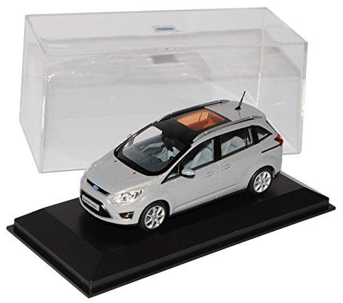 Preisvergleich Produktbild Ford Focus Grand C-max Silber Grau Ab 2010 2. Generation C346 1/43 Minichamps Modell Auto Modellauto