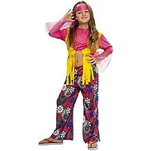 Boys Toys - Disfraz de hippie para niña, talla 5 - 6 años (STDO4/6)