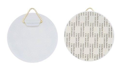 Glorex 6 1716 800 Wandtellerhalter, Selbstklebend, ca. 60 mm, 4 Stück