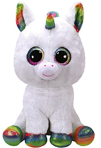 Beanie Boo Unicorn - Pixy, Unicorn - White/Multicoloured - 42cm 16""