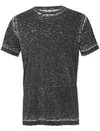 """Unisexe poly-coton t-shirt manche courte (BE119) - Gris Délavé, Large / 42""""-45"""""""