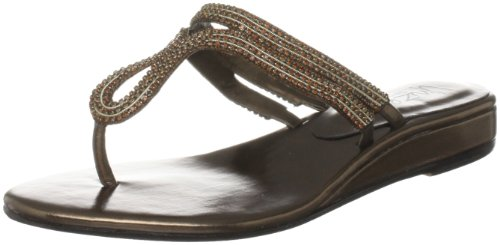 Unze Evening Sandals, Damen Sandalen Braun (L18395W)