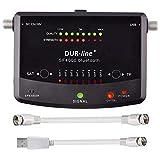 Satfinder DUR-line SF 4000 BT Bluetooth Easy mit 8 vor eingestellten Satelliten Smartphone App für weitere Profi Anwendungen DVB-S DVB-S2 Digitales SAT-Messgerät inkl. F-Kabel SAT Finder