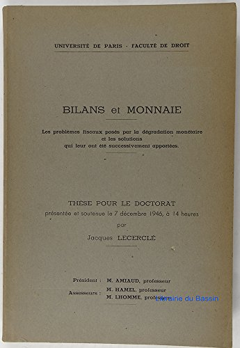 BILANS ET MONNAIE