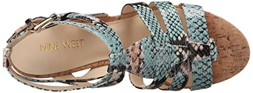 Nine West Farfalla Synthetic Keilsandale Light Natural Multi