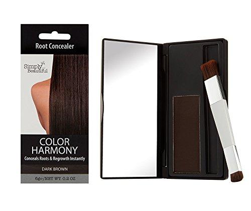 Color Harmony Ritocco per la Ricrescita Polvere Corregge Modo Temporaneo il Colore di Capelli Grigi Scuri Alla Radice Resistente allAcqua Non